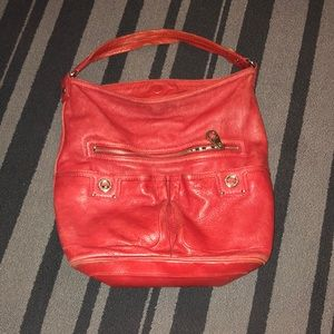 Marc by Marc Jacobs cherry red hobo bag
